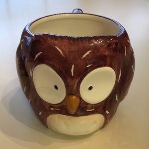 Owl earthenware coffee mug
